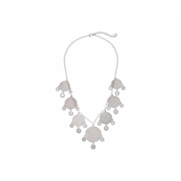 ラッキーブランド レディース ネックレス・チョーカー・ペンダントトップ アクセサリー Modern Metal Layer Statement Necklace Silver