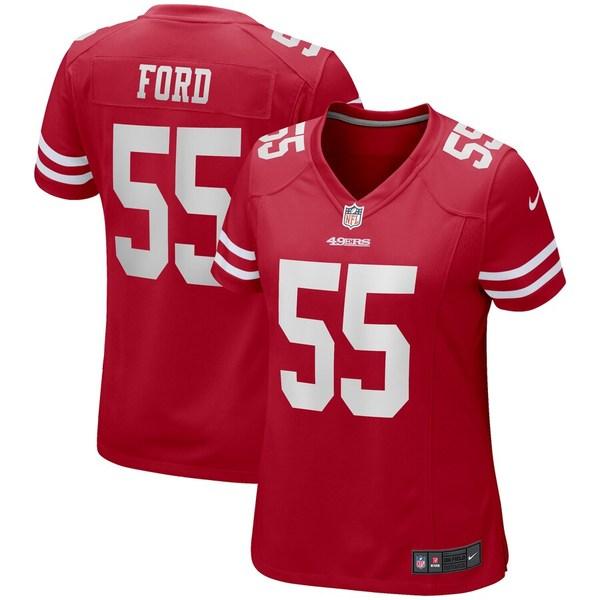 ナイキ レディース シャツ トップス Dee Ford San Francisco 49ers Nike Women's Game Jersey Scarlet
