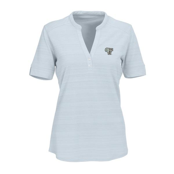 ビンテージアパレル レディース シャツ トップス Fordham Rams Women's Strata Textured Henley Shirt Silver