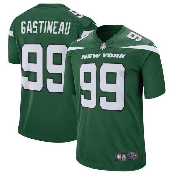 ナイキ メンズ シャツ トップス Mark Gastineau New York Jets Nike Retired Player Game Jersey Gotham Green