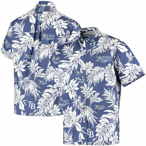 レインスプーナー メンズ シャツ トップス Tampa Bay Rays Reyn Spooner Aloha Button-Down Shirt Royal