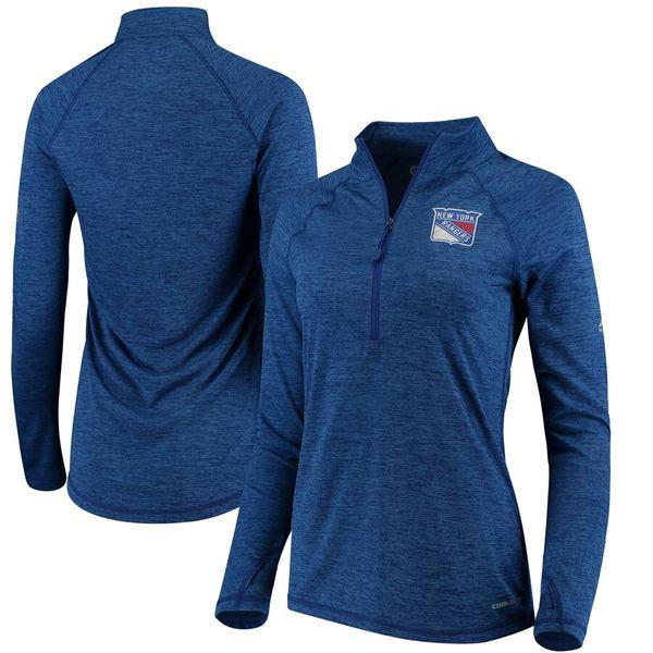 ファナティクス レディース ジャケット&ブルゾン アウター New York Rangers Majestic Women's Improvise Half-Zip Pullover Jacket Blue