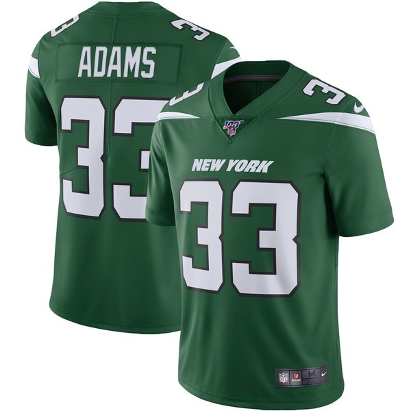 ナイキ メンズ シャツ トップス Jamal Adams New York Jets Nike NFL 100 Vapor Limited Jersey Gotham Green