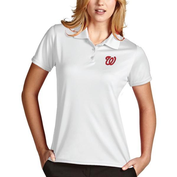 アンティグア レディース ポロシャツ トップス Washington Nationals Antigua Women's Desert Dry Xtra-Lite Exceed Polo White