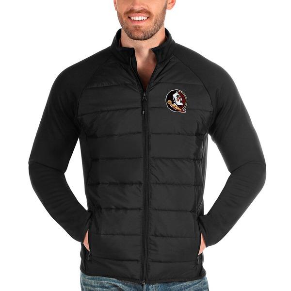 アンティグア メンズ ジャケット&ブルゾン アウター Florida State Seminoles Antigua Altitude Full-Zip Jacket Black