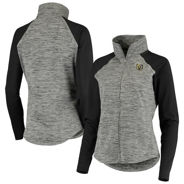 カールバンクス レディース ジャケット&ブルゾン アウター Vegas Golden Knights G-III 4Her by Carl Banks Women's Energize Full-Zip Jacket Gray/Black