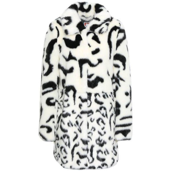 シュリンプス レディース コート アウター Leopard-print faux fur coat Ivory