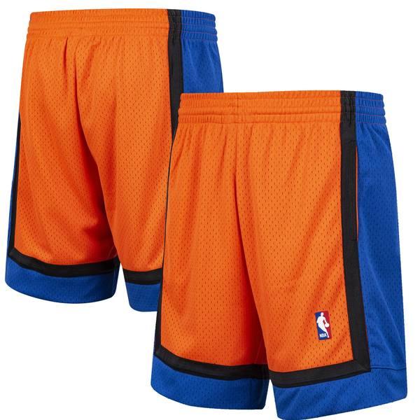 ミッチェル&ネス メンズ ハーフ&ショーツ ボトムス New York Knicks Mitchell & Ness Hardwood Classic Reload Swingman Shorts Orange
