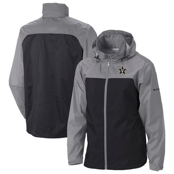コロンビア メンズ ジャケット&ブルゾン アウター Vanderbilt Commodores Columbia Glennaker Lake II Packable Rain Jacket Black