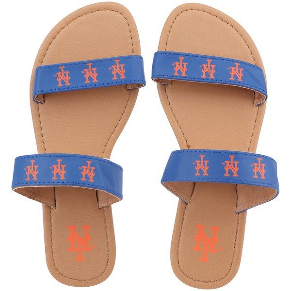 フォコ レディース サンダル シューズ New York Mets Women's Double Strap Sandals