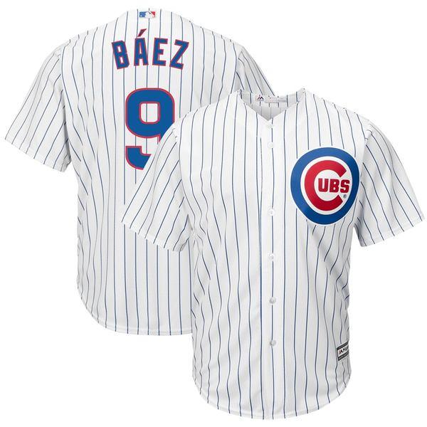 マジェスティック メンズ ユニフォーム トップス Javier Baez Chicago Cubs Majestic Away Cool Base Player Replica Jersey Gray