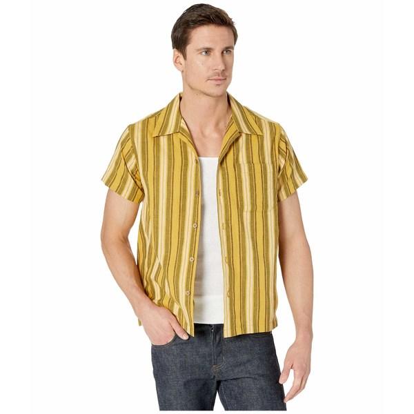 ナイキッドアンドフェイマス メンズ シャツ トップス Aloha Shirt Sahara Stripe/Yellow