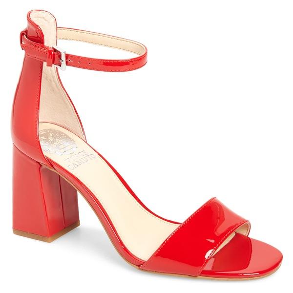 ヴィンスカムート レディース サンダル シューズ Vince Camuto Winderly Ankle Strap Sandal (Women) Fuoco Gloss Leather