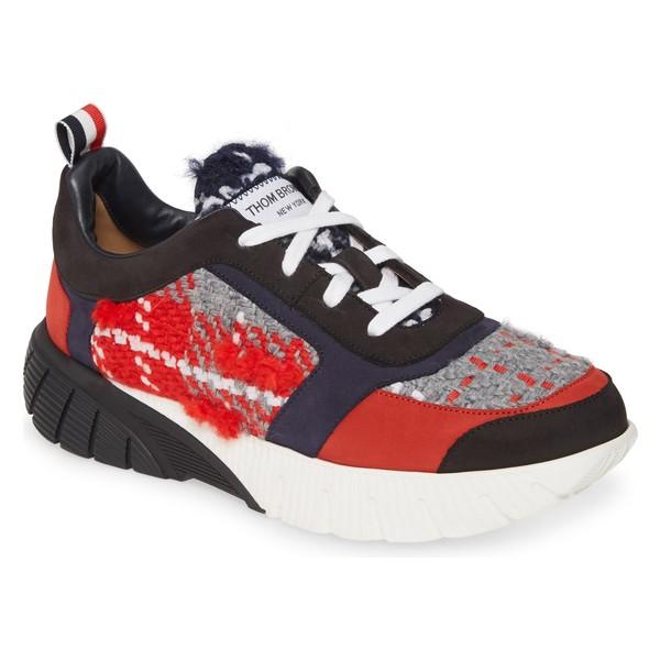 トムブラウン レディース スニーカー シューズ Thom Browne Tartan Running Sneaker (Women) Red Plaid
