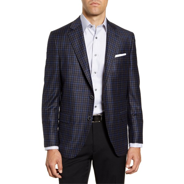 ピーター・ミラー メンズ ジャケット&ブルゾン アウター Peter Millar Hyperlight Classic Fit Check Wool Sport Coat Grey