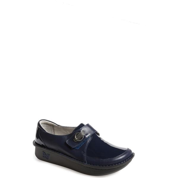アレグリア レディース サンダル シューズ Alegria Dixie Platform Loafer (Women) Navy Leather