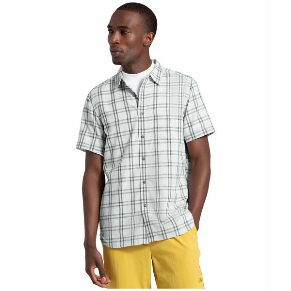 ノースフェイス メンズ シャツ トップス Short Sleeve Hammetts Shirt II Tin Grey Check Plaid
