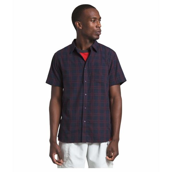 ノースフェイス メンズ シャツ トップス Short Sleeve Hammetts Shirt II Urban Navy Check Plaid