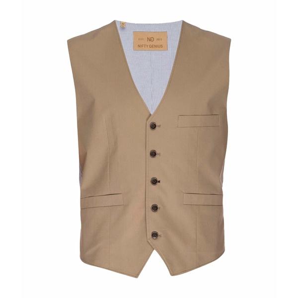 ニフティ ジーニアス メンズ コート アウター Albert Stretch Typewriter Cloth Vest Tan