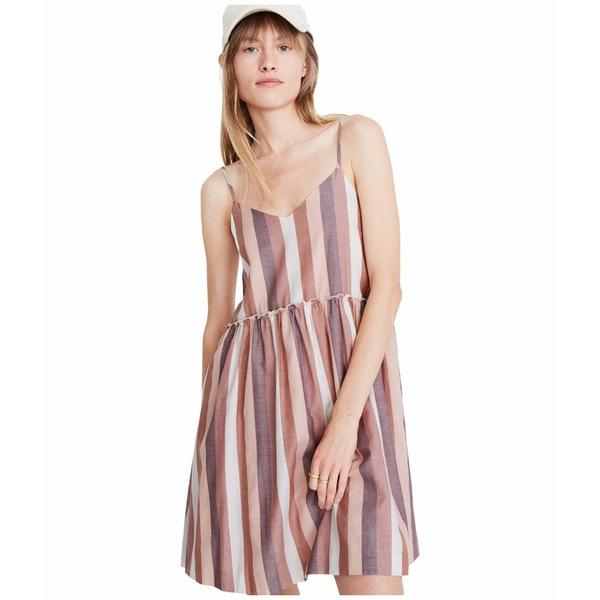 メイドウェル レディース ワンピース トップス Cami Babydoll Dress in Stripe Luna Stripe Dark Cabernet