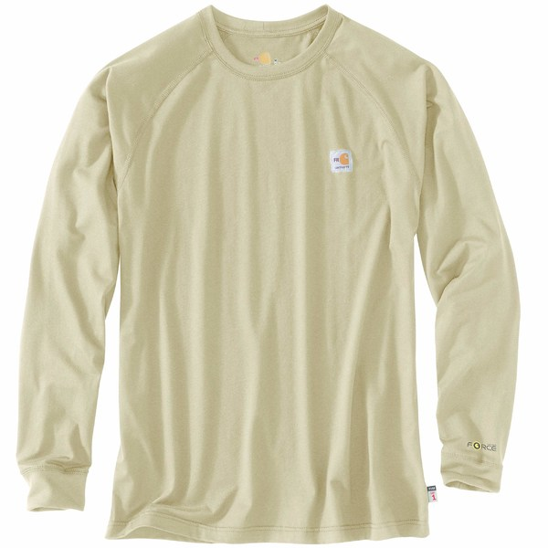カーハート メンズ シャツ トップス Flame-Resistant Force Long Sleeve T-Shirt Khaki