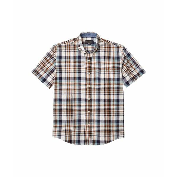 ペンドルトン メンズ シャツ トップス Short Sleeve Madras Shirt Blue/Brown Plaid