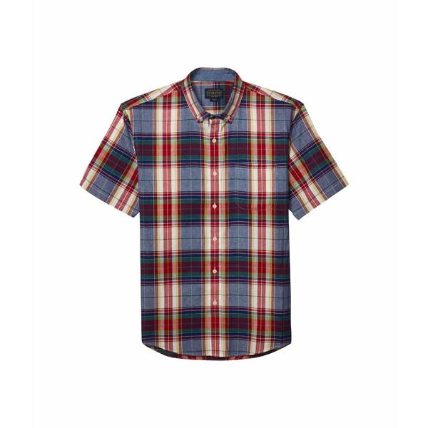 ペンドルトン メンズ シャツ トップス Short Sleeve Madras Shirt Blue/Red Multi Plaid