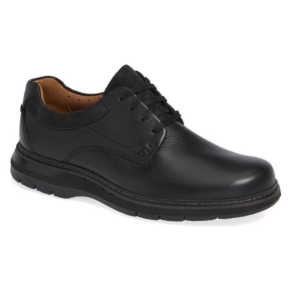 クラークス メンズ ドレスシューズ シューズ Clarks Un Ramble Lo Plain Toe Derby (Men) Black Leather