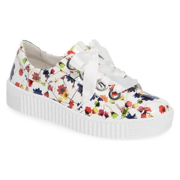 ガボール レディース スニーカー シューズ Gabor Platform Sneaker (Women) Flower Leather