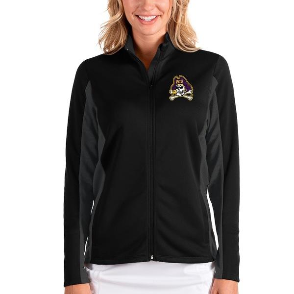 アンティグア レディース ジャケット&ブルゾン アウター ECU Pirates Antigua Women's Passage Full-Zip Jacket Black/Charcoal
