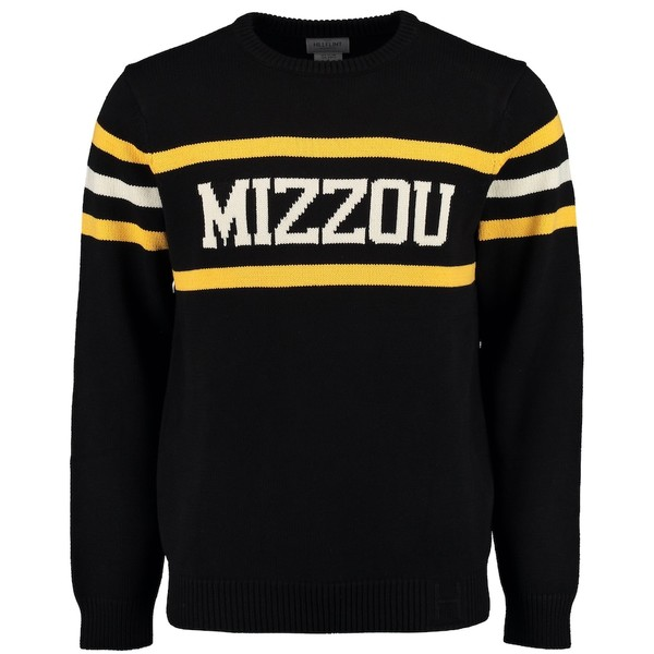 ヒルフィント メンズ シャツ トップス Missouri Tigers Hillflint Vintage Stadium Knit Sweater Black