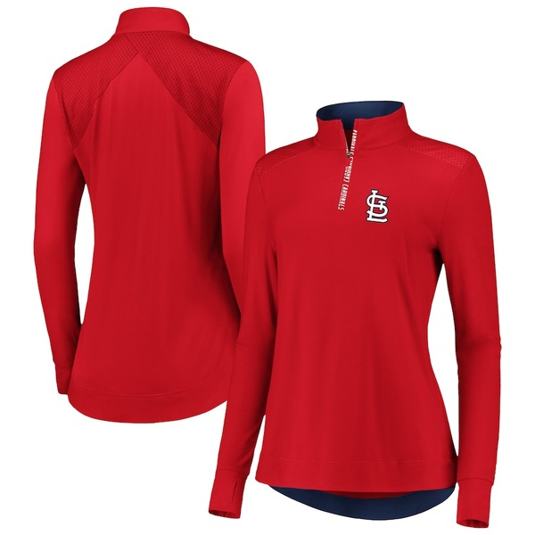 ファナティクス レディース ジャケット&ブルゾン アウター St. Louis Cardinals Fanatics Branded Women's Iconic Clutch Half-Zip Pullover Jacket Red