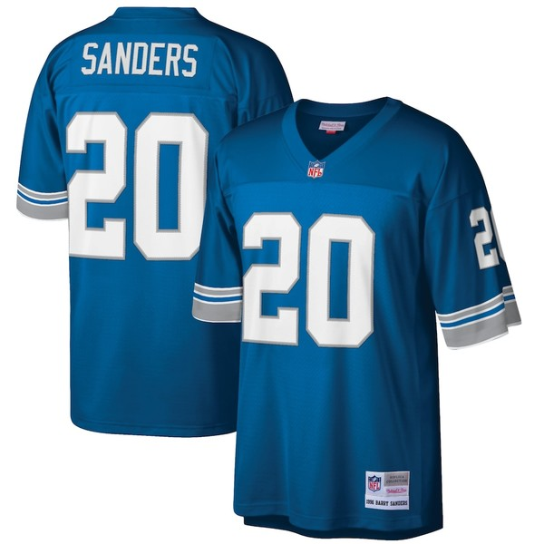 ミッチェル&ネス メンズ シャツ トップス Barry Sanders Detroit Lions Mitchell & Ness Retired Player Legacy Replica Jersey Blue