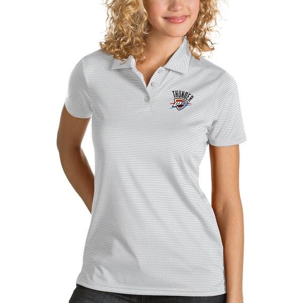 アンティグア レディース ポロシャツ トップス Oklahoma City Thunder Antigua Women's Quest Polo White
