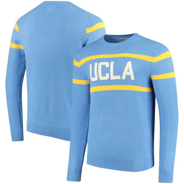 ヒルフィント メンズ シャツ トップス UCLA Bruins Vintage Stadium Knit Sweater Light Blue