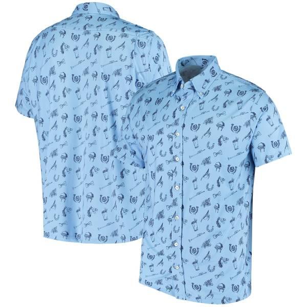 ファナティクス メンズ シャツ トップス Kentucky Derby 146 Fanatics Branded Printed ButtonDown Shirt Blue