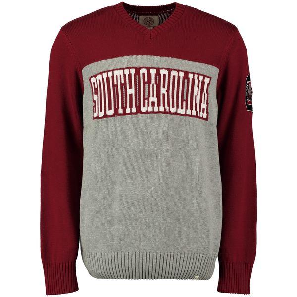 フォーティーセブン メンズ シャツ トップス South Carolina Gamecocks '47 Drop Back Sweater Gray
