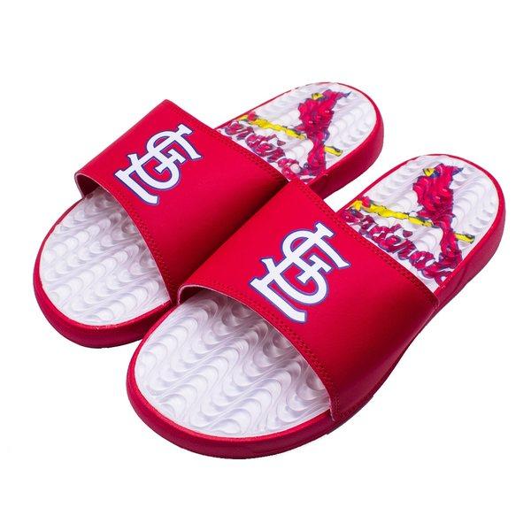 アイスライド メンズ サンダル シューズ St. Louis Cardinals ISlide Gel Slide Sandals Red