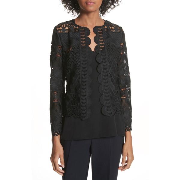 高級感 テッドベーカー レディース ジャケット&ブルゾン アウター Crop Lace Jacket BLACK, クマムラ 6336d661