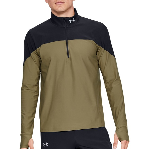 アンダーアーマー メンズ シャツ トップス Under Armour Men's Qualifier Zip Running Long Sleeve Shirt BaroqueGreen