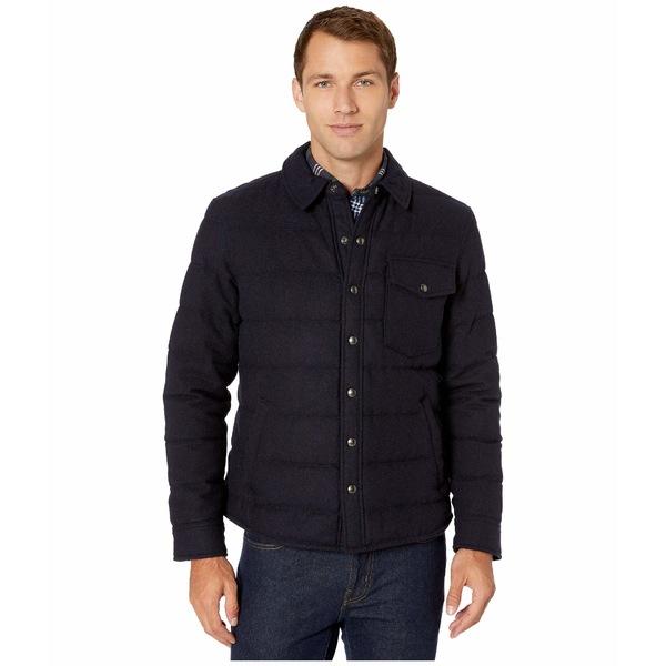 ラルフローレン メンズ コート アウター Wool Blend Puffer Shirt Jacket Navy Twill