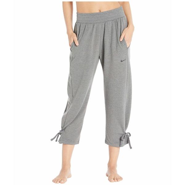 ナイキ レディース カジュアルパンツ ボトムス Cropped Yoga Pants Dark Grey/Heather/Black