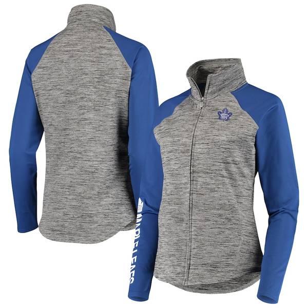 カールバンクス レディース ジャケット&ブルゾン アウター Toronto Maple Leafs G-III 4Her by Carl Banks Women's Energize Full-Zip Jacket Gray/Blue