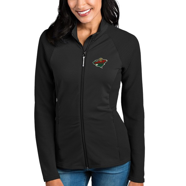 アンティグア レディース ジャケット&ブルゾン アウター Minnesota Wild Antigua Women's Sonar Full-Zip Jacket Black