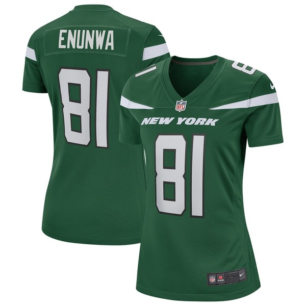ナイキ レディース シャツ トップス Quincy Enunwa New York Jets Nike Women's Game Jersey Gotham Green