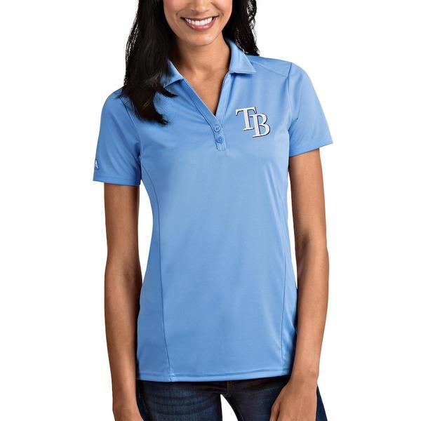 アンティグア レディース ポロシャツ トップス Tampa Bay Rays Antigua Women's Tribute Polo Light Blue