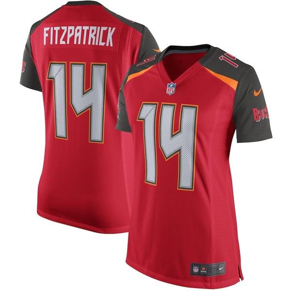 ナイキ レディース シャツ トップス Ryan Fitzpatrick Tampa Bay Buccaneers Nike Women's Player Game Jersey Red