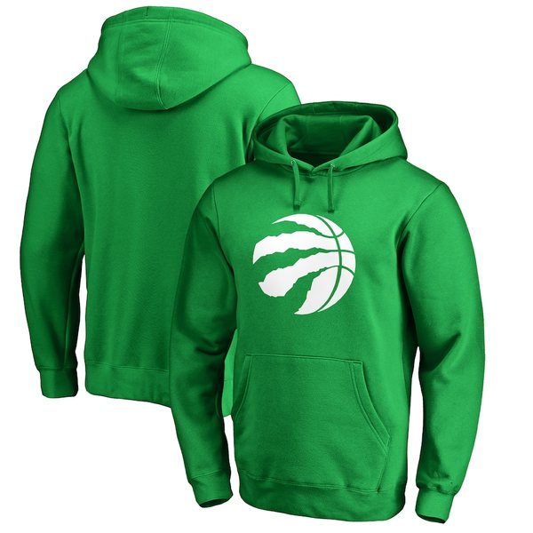 ファナティクス メンズ パーカー・スウェットシャツ アウター Toronto Raptors Fanatics Branded St. Patrick's Day White Logo Pullover Hoodie Green