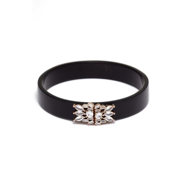 値下げ アコラ レディース アクセサリー ブレスレット バングル アンクレット BLACK Bangle Horn Embellished Crystal 超安い 全商品無料サイズ交換 Bracelet