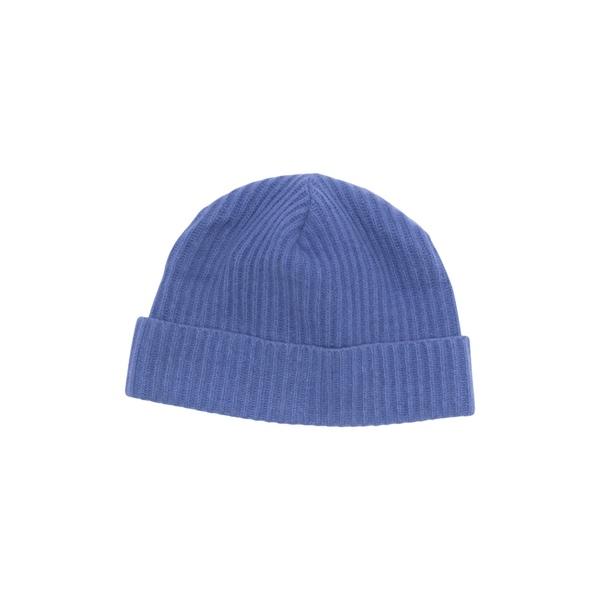 ポートラノ レディース アクセサリー 帽子 WINTE 大幅値下げランキング BLUE 新作多数 Cashmere Beanie 全商品無料サイズ交換